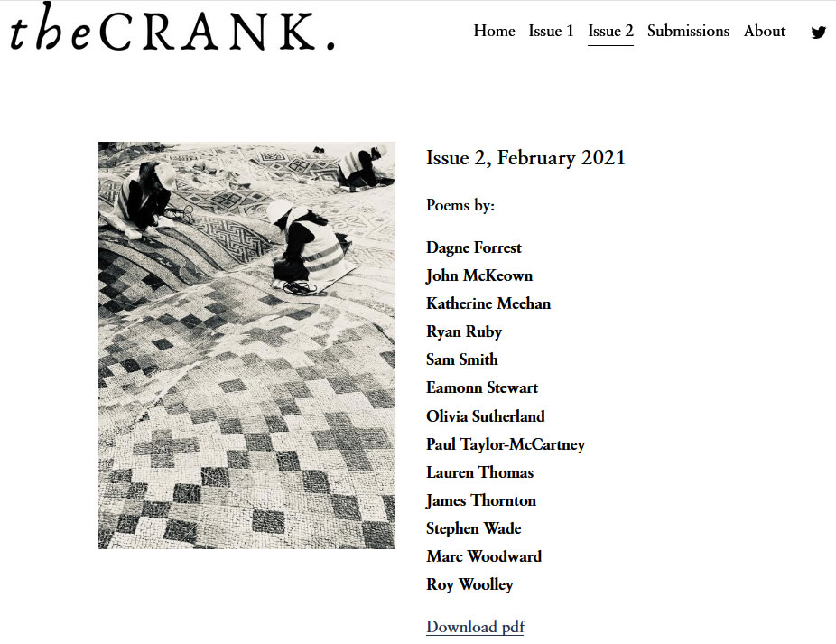 Cover image for Issue 2 of The Crank